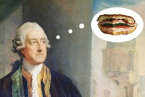 Did the earl of sandwich invite the food?