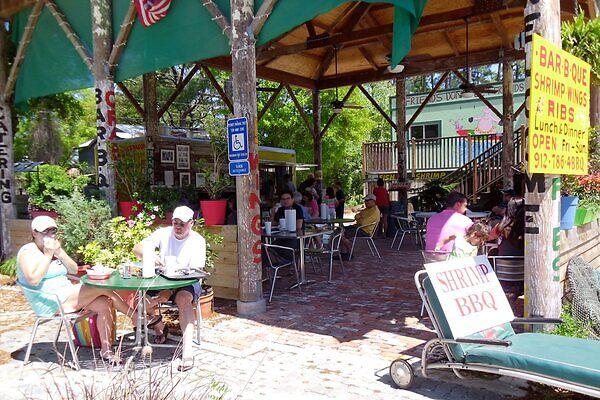 outdoor seating on Tybee Island