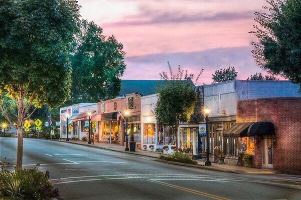 the quaint town of Landrum
